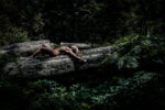 Location nude woman in woods