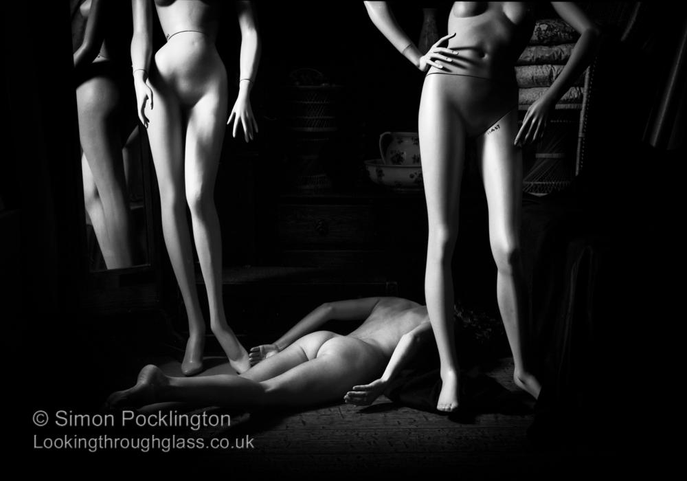 creative nude with dummies