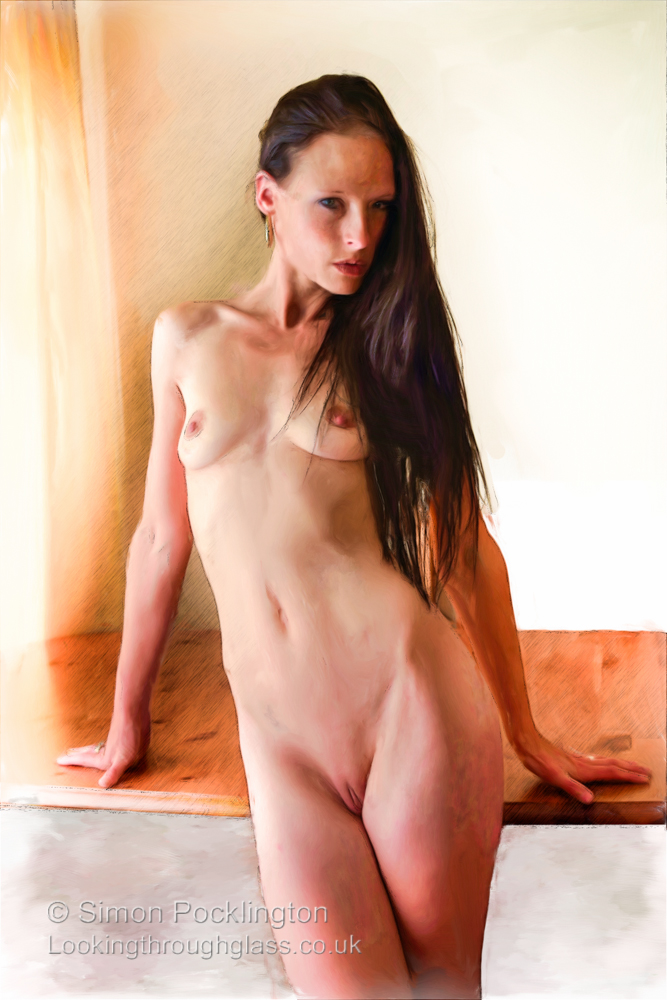 Painting of nude girl