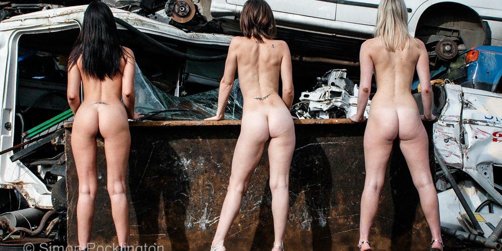 Scrap yard nudes