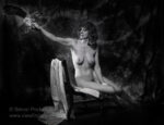 Nude woman with an owl from the Nude or Naked Portraits of Women series