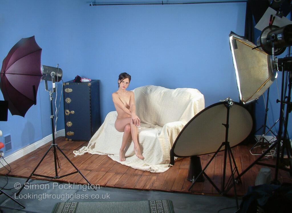 Nude studio lighting set up