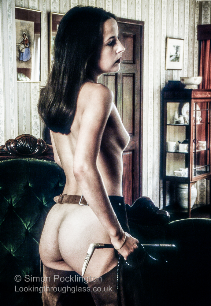 Fetish nude with riding crop
