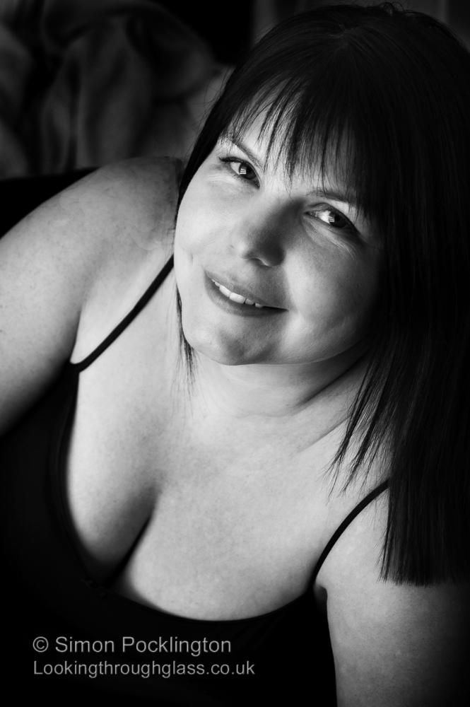 Black and white Boudoir portrait