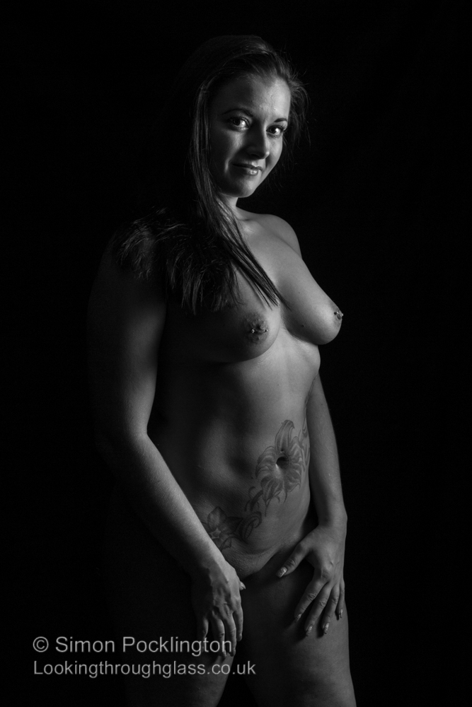 Black and white nude portrait photograph