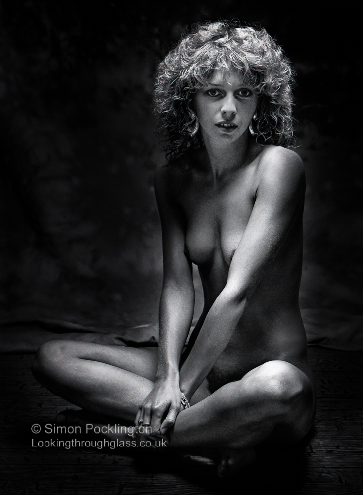 Nude photography composition in the studio
