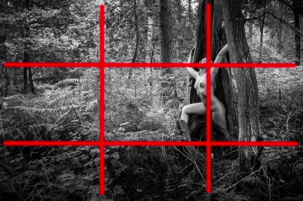 Nude photography composition - the rule of thirds in a photo